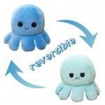 Λούτρινο Παιχνίδι Χταπόδι που Αλλάζει Διάθεση - Mood Swings Reversible Happy / Angry Octopus Μπλε/Γαλάζιο