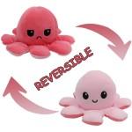 Λούτρινο Παιχνίδι Χταπόδι που Αλλάζει Διάθεση - Mood Swings Reversible Happy / Angry Octopus Σκούρο Ρόζ/Ροζ