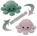 Λούτρινο Παιχνίδι Χταπόδι που Αλλάζει Διάθεση - Mood Swings Reversible Happy / Angry Octopus Πράσινο/Ροζ