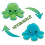 Λούτρινο Παιχνίδι Χταπόδι που Αλλάζει Διάθεση - Mood Swings Reversible Happy / Angry Octopus Λαχανί/Γαλάζιο