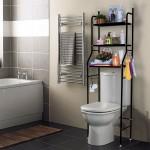 Μεταλλική Ραφιέρα Μπάνιου 3 Επιπέδων για την Τουαλέτα - Toilet Rack Stainless Steel Μαύρο