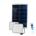 Ηλιακοί Προβολείς LED 100W IP67 με Τηλεχειρισμό OEM 2τμχ & Φωτοβολταϊκό Πάνελ – Λευκό