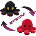 Λούτρινο Παιχνίδι Χταπόδι που Αλλάζει Διάθεση - Mood Swings Reversible Happy / Angry Octopus Κόκκινο/Μαύρο