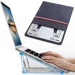 Μεταλλική Βάση Λάπτοπ - Stand Στήριξης Tablet & Φορητού Υπολογιστή με Θήκη Μεταφοράς - Metallic Cooling Pad for Laptop