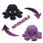 Λούτρινο Παιχνίδι Χταπόδι που Αλλάζει Διάθεση - Mood Swings Reversible Happy / Angry Octopus Λιλά / Μαύρο