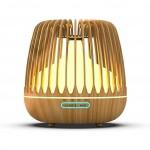 Υγραντήρας Υπερήχων & Αρωματοθεραπείας με LED Φωτισμό 500ml - Aroma Diffuser 7 LED Color Ανοιχτό Καφέ