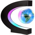 Μεγάλη Μαγνητική Αιωρούμενη Υδρόγειος Σφαίρα 14cm Αυτόματα Φωτιζόμενη & με LED Φωτιζόμενη Βάση - Αντιβαρυτικής Τεχνολογίας