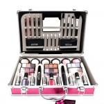 Διάφανο Βαλιτσάκι Μακιγιάζ με 69τμχ - Miss Young Make up Set MC1156 - Ροζ