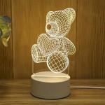 Διακοσμητικό Τρισδιάστατο LED USB Φωτιστικό Teddy Bear - 3D Desk Lamp