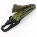Κρεμαστός Γάντζος Carabiner Molle Velcro για Ζώνες & Σακίδια Στρατιωτικός Πράσινο