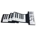 Ευλύγιστο Φορητό Roll-Up Midi Πιάνο Αρμόνιο Keyboard Αφής 61 Πλήκτρων που Τυλίγεται, με Ενσωματωμένο Ηχείο, 128 Ήχους & 128 Ρυθμούς OEM