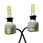 Εμπρόσθια Φώτα Αυτοκινήτου 8000LM H3 LED  CANBUS - 72W (2x36W) 6500K - Λαμπτήρες 2τμχ