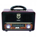 Ρετρό Επαναφορτιζόμενο Φορητό Ραδιόφωνο MK-111BT Μαύρο - Bluetooth Wireless και MP3 Player - Multimedia Radio Player