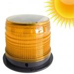 Ηλιακός Επαναφορτιζόμενος Πορτοκαλί Μαγνητικός Φάρος 12v Αυτοκινήτου με Στροβοσκοπικό φώς Led & Φωτοκύταρο OEM