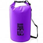 Αδιάβροχος Αεροστεγής Σάκος / Τσάντα 10L με Λουρί Ώμου που Επιπλέει στο Νερό Ocean Pack , Μωβ