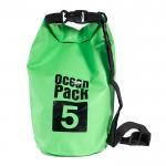 Αδιάβροχος Αεροστεγής Σάκος / Τσάντα 5L με Λουρί Ώμου που Επιπλέει στο Νερό Ocean Pack , Ανοικτό Πράσινο