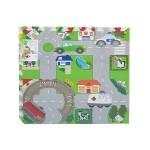 Αφρώδες Δάπεδο Προστασίας για Παιδιά  με Χάρτη Πόλης - Σετ 4 τεμαχίων 60x60x1 εκ