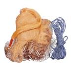 Πεζόβολο Αρματωμένο με Καφέ Δίχτυ Ψαρέματος Διαμέτρου 300cm ΟΕΜ