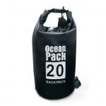Αδιάβροχος Αεροστεγής Σάκος / Τσάντα 20L με Λουρί Ώμου που Επιπλέει στο Νερό Ocean Pack , Μαύρο