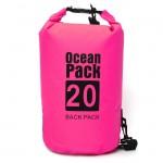Αδιάβροχος Αεροστεγής Σάκος / Τσάντα 20L με Λουρί Ώμου που Επιπλέει στο Νερό Ocean Pack , Ροζ