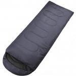Μονός Υπνόσακος με Κουκούλα 200x75cm - Sleeping Bag Μαύρο OEM