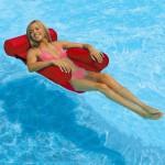 Φουσκωτή Πλωτή Ξαπλώστρα Θαλάσσης και Πισίνας - Κόκκινο