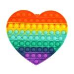 Πολύχρωμο Αγχολυτικό Παιχνίδι Anti-Stress - Fidget Bubble Pop it Γίγας Καρδιά 20cm OEM