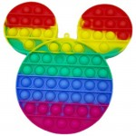 Poppy Πολύχρωμο Αγχολυτικό Παιχνίδι Anti-Stress - Fidget Bubble Pop it Γίγας Mickey Mouse OEM