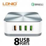Πολύ - Φορτιστής USB HUB Quick Charge με 8 Θύρες USB LDNIO® Γραφείου - Multi Desktop Charger 10A