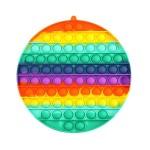 Poppy Πολύχρωμο Αγχολυτικό Παιχνίδι Anti-Stress - Fidget Bubble Pop it Γίγας 20cm OEM