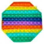 Poppy Πολύχρωμο Αγχολυτικό Παιχνίδι Anti-Stress - Fidget Bubble Pop it Πολύγωνο Γίγας 20cm OEM