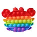 Poppy Πολύχρωμο Αγχολυτικό Παιχνίδι Anti-Stress - Fidget Bubble Pop it Ρομπότ Αστροναύτης Γίγας 20cm OEM