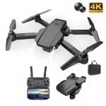 Τετρακόπτερο Drone 4K HD Πτυσσόμενο με Διπλή Κάμερα & Έλεγχο από το Κινητό - Μαύρο