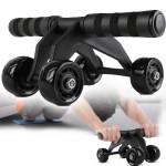 Τετραπλή Ρόδα Εκγύμνασης Κοιλιακών για Μέγιστη Σταθερότητα - Quad AB Wheel & Roller Μαύρο