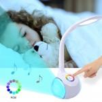 Smart Φωτιστικό Αφής LED & Bluetooth Ηχείο με Εύκαμπτο Βραχίονα - Colour Control Speaker Table Lamp & Night Light