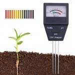 Πεχάμετρο pH - Αναλυτής Γονιμότητας Εδάφους χωρίς μπαταρίες - Μετρητής Οξύτητας & Αλκαλικότητας Χώματος Soil Fertility Analyzer PHM80-OEM