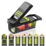 Σετ Πολυκόφτης Φρούτων & Λαχανικών με 8 Επιφάνειες Κοπής - Vegetable Chopper OEM