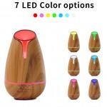 Υγραντήρας Υπερήχων με Χρονοδιακόπτη & RGB LED Φωτισμό 120ml - Συσκευή Αρωματοθεραπείας Aroma Diffuser Χρώμα Φυσικό Ξύλου