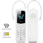Ακουστικό Bluetooth - Κινητό Τηλέφωνο με Πληκτρολόγιο & Κάρτα Sim 2 σε 1 - Λευκό