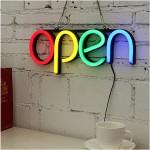 Αδιάβροχη Neon Led Φωτιζόμενη Διαφημιστική Πινακίδα OPEN Retro 40x15 - 220V με Αλυσίδα