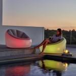 LED Φουσκωτή Πολυθρόνα BestWay με Φωτισμό - 7 Χρώματα 102x97x71 cm