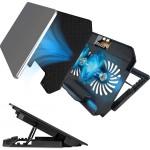 Πολυλειτουργική Βάση Φορητού Υπολογιστή με Ανεμιστήρα USB & LED Φωτισμό - Notebook Cooler SHAOYUNDIAN
