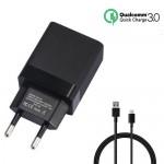 Αντάπτορας USB Ταχυφορτιστής 3A Κινητού με Καλώδιο Type-C USB Andowl Quallcomm Quick Charge 3.0 - Fast Smart Charger