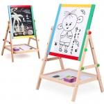 Διπλός Μαγνητικός Παιδικός Πίνακας & Μαυροπίνακας 64cm Ζωγραφικής Διπλής Όψης με Αποθηκευτικό Χώρο για Κιμωλία & Μαρκαδόρο