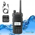 Σετ Αδιάβροχος Ασύρματος Πομποδέκτης 10W Baofeng VHF UHF Dual Band Υψηλής Απόδοσης & Φακός με Φορτιστή & Ακουστικά Φορητό Walkie Talkie BF-H5