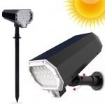 Αδιάβροχο Ηλιακό Φωτιστικό Δρόμου 22 LED Τοίχου ή Εδάφους Αυτόματης Περιστροφής με Ανιχνευτή Κίνησης & Ηλιακό Πάνελ Εξωτερικού Χώρου