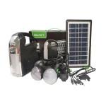 Ηλιακό Σύστημα Τριπλού Φωτισμού & Φόρτισης, Μπαταρία, Φακό & 3 Λάμπες GDLITE 7