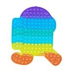 Poppy Πολύχρωμο Αγχολυτικό Παιχνίδι Anti-Stress - Fidget Bubble Pop it Ρομπότ Αστροναύτης Γίγας 30cm OEM