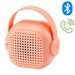 Μίνι Ηχείο Τσέπης Bluetοoth TWS με Μικρόφωνο για Hands-free Κλήσεις με Επαναφορτιζόμενη Μπαταρία WSTER WS-302 - Ροζ