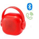 Μίνι Ηχείο Τσέπης Bluetοoth TWS με Μικρόφωνο για Hands-free Κλήσεις με Επαναφορτιζόμενη Μπαταρία WSTER WS-302 - Κόκκινο